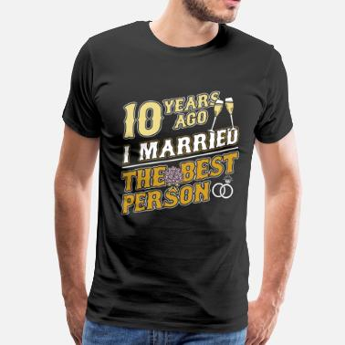 Anniversary 10th wedding anniversary - Men's Premium T-Shirt