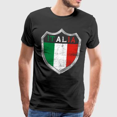 Italia Italian flag Rome gift nation - Men's Premium T-Shirt
