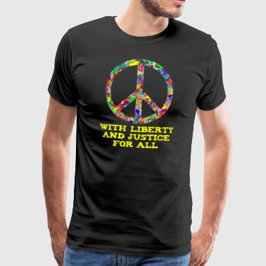 Peace Sign Liberty Justice Peace Peace Sign - Men's Premium T-Shirt