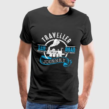 Traveller Rail Road Journey - Premium T-skjorte for menn
