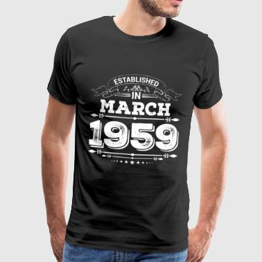 Established in March 1959 - Men's Premium T-Shirt
