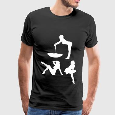 0025.2 Pin-up girls (alle drie) - Mannen Premium T-shirt
