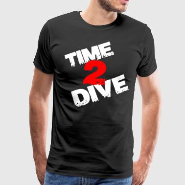 Time to Dive gave - Herre premium T-shirt