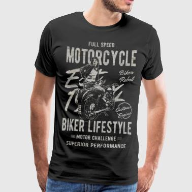 Motocross Motorcycle Bike Motossport Gift - Men's Premium T-Shirt
