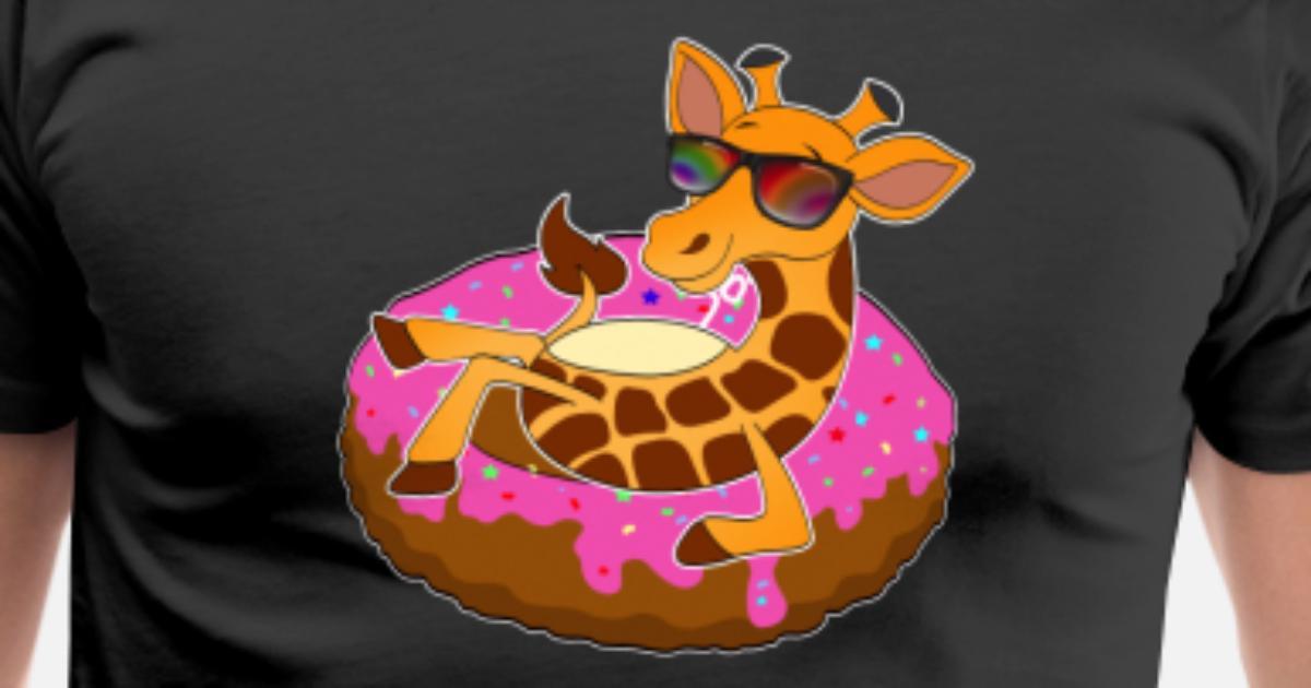 Girafe Sur Donut Frais Air Mat Kawaii Ete De Mucdesigns