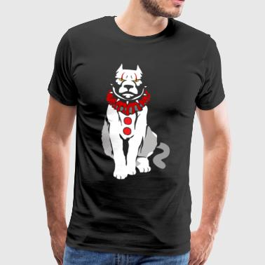 Police Dog Puppy - We all bark down here - Men's Premium T-Shirt