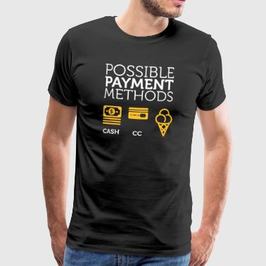 Possible methods of payment credit card, bar, ice cream - Men's Premium T-Shirt