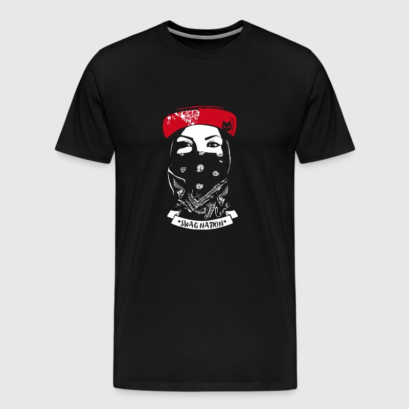 STYLE SWAG street style tatoo femme rap gangster nat - T-shirt Premium Homme