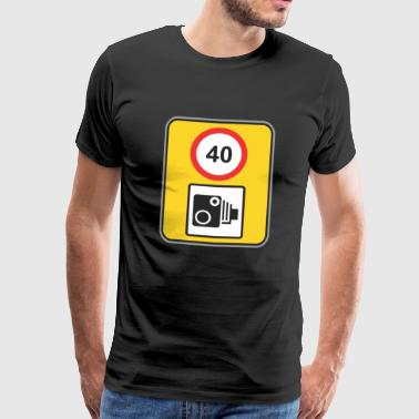 Road sign speed check 40 - Men's Premium T-Shirt