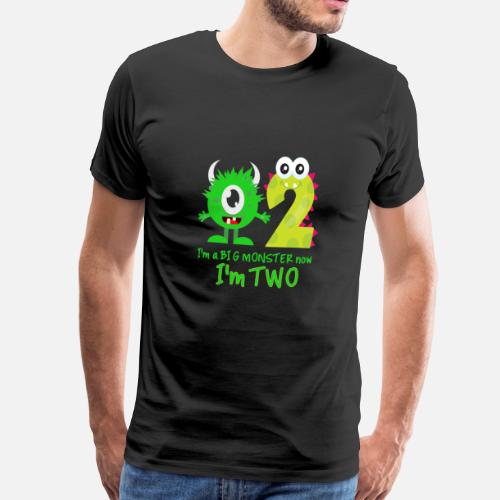 Disegno Di Monster Di Buon Compleanno Divertente Maglietta Premium