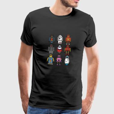 Retro robot - vintage old school robo toy - Men's Premium T-Shirt