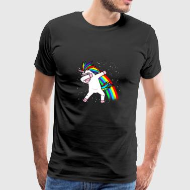 Unicorn Weightlifting Dabbendes Unicorn Dab Dabbing Gift - Men's Premium T-Shirt
