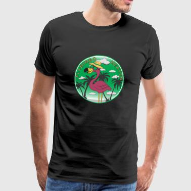 Flamingo Heaven - Premium T-skjorte for menn