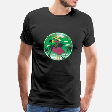 Heaven Flamingo Heaven - T-shirt Premium Homme