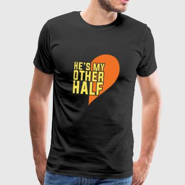 My City Couple Design Half Piece He's my better half - Men's Premium T-Shirt