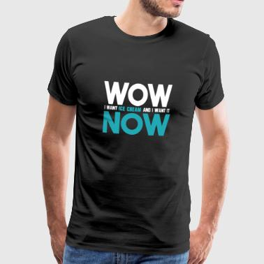Selfconfidence Wow Now - Men's Premium T-Shirt