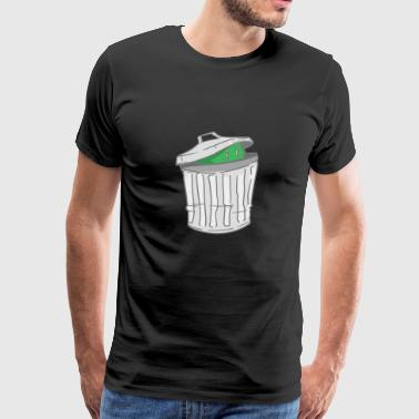 Trash - trash can - hide - Men's Premium T-Shirt