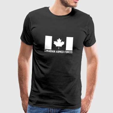Canadian Armed Forces T-Shirt - Canada White Flag - Men's Premium T-Shirt