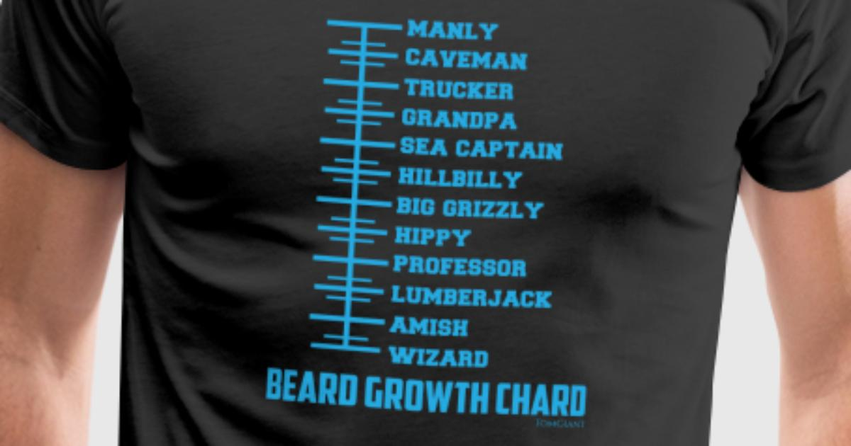 Beard Growth Chart By Tom Giant Designs Spreadshirt