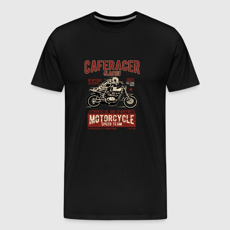 Biker shirt Caferacer Classic Race Speed Team - Mannen Premium T-shirt