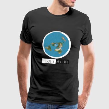 Flat Earth Map | RESERK #FLATEARTH - Mannen Premium T-shirt