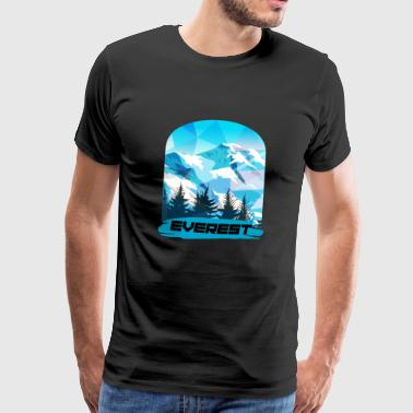 Mount Everest - Premium T-skjorte for menn
