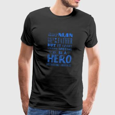 A Father and a Hero Scleroderma Awareness - Men's Premium T-Shirt