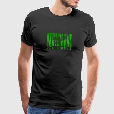 Scoliosis Bar code Awareness Ribbon - Men's Premium T-Shirt