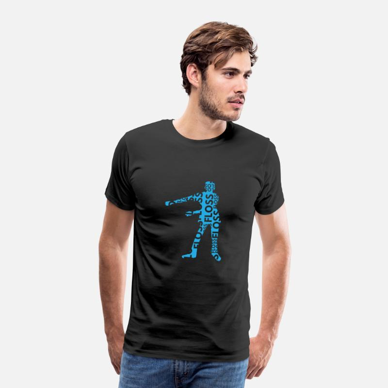Dance T-Shirts - Floss Dance Move Blue - Men's Premium T-Shirt black
