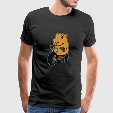 Capybara Riding Tricycle T-skjorte Gnagere Animal - Premium T-skjorte for menn