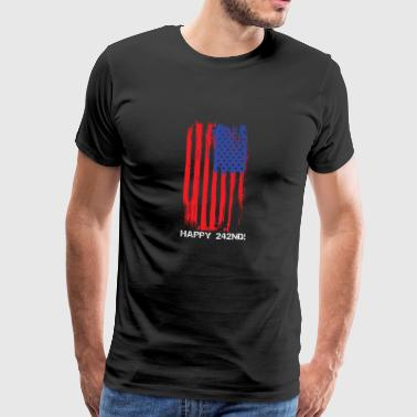 USA Faded Flag Fourth Of July - Men's Premium T-Shirt