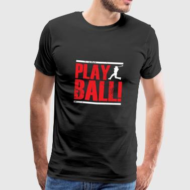 Baseball Team Athlete Batter Catcher - Men's Premium T-Shirt