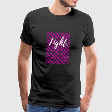 fight cancer ribbon together cancer awareness awar - Männer Premium T-Shirt