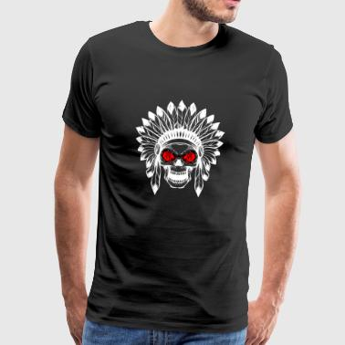 Gift - INDIAN TOTENKOPF wit - Mannen Premium T-shirt