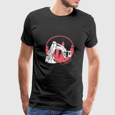 Excavator Construction Worker Excavator Kid Construction Site - Men's Premium T-Shirt