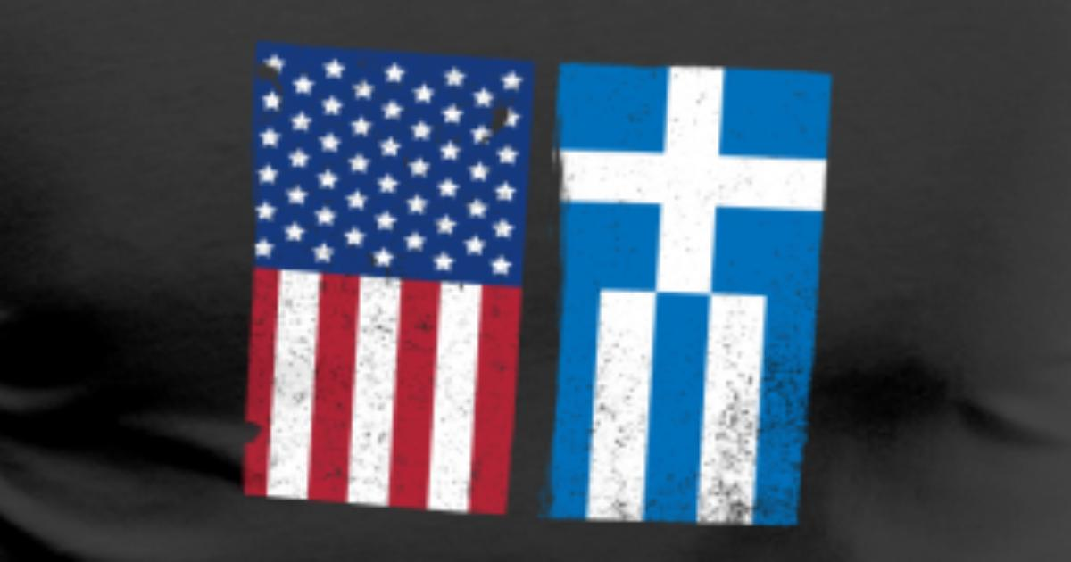 Grèce Usa De CreativeworkSpreadshirt Grec Drapeau Cadeau Chemise Lc5AR4jS3q