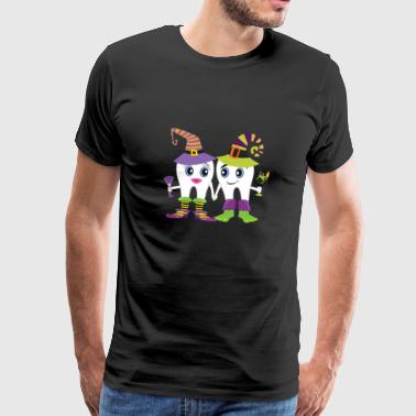 Funny Tandlæge Halloween Dental Graphic Design - Herre premium T-shirt