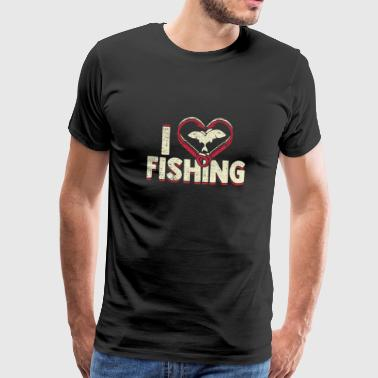 I love fishing gift idea father - Men's Premium T-Shirt