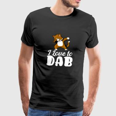 Cat DAB dabbing gift De Floss Dance Battle - Mannen Premium T-shirt