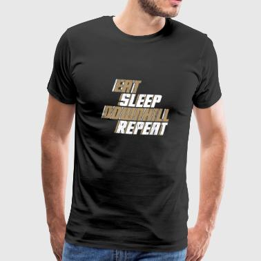 Eet Sleep Downhill Repeat Gift Bike - Mannen Premium T-shirt