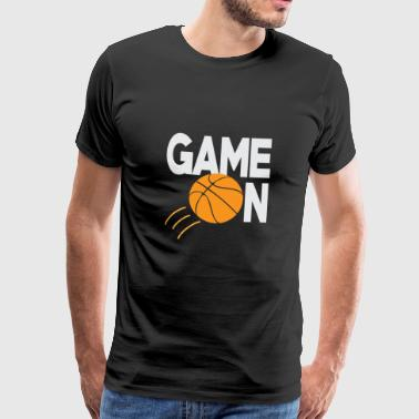 Basketspel på - Premium-T-shirt herr