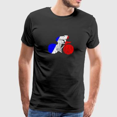 Cycling cycling race France flag cycling cyclist - Men's Premium T-Shirt