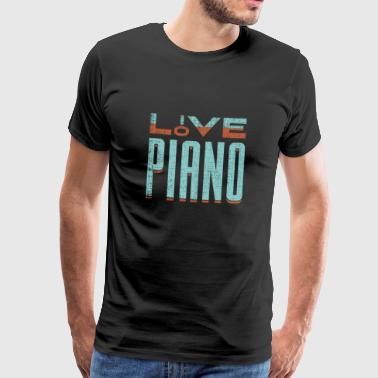Love piano piano gift saying musician - Men's Premium T-Shirt