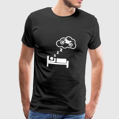 Sleeping dreams motocross gift gift idea - Men's Premium T-Shirt