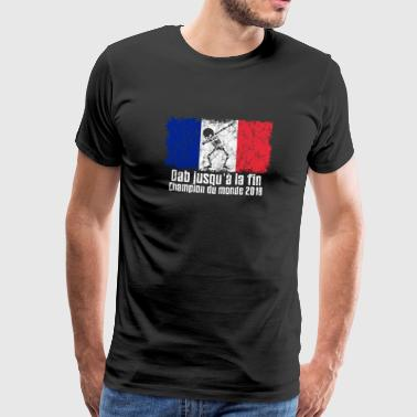 Dabbing France Football 2018 - Premium T-skjorte for menn