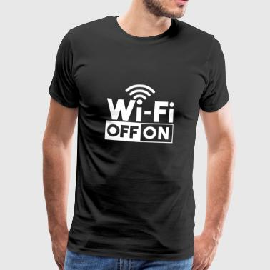 WiFi På Off Wlan On Off Gavedisk - Herre premium T-shirt