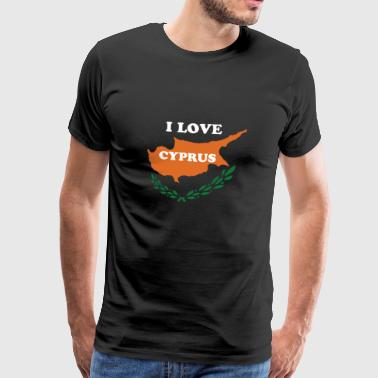 Cyprus shirt with Cyprus colors and island - Men's Premium T-Shirt
