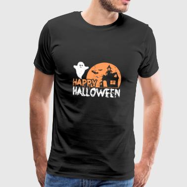 Happy Halloween Gift Ghost Skumle - Premium T-skjorte for menn
