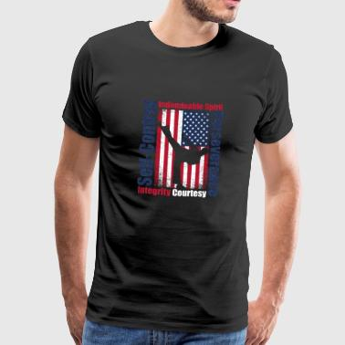 Karate USA Flag America - Men's Premium T-Shirt