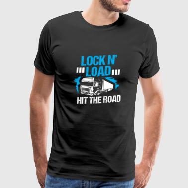 Pick Up Truck Truck Driver Loading Cargo Road Truck Driving Gasoline - Men's Premium T-Shirt
